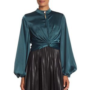 Gracia Waist-Tie Balloon Sleeve Top 1X